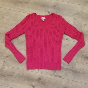 Arizona Jean Co Fitted Sweater Fuchsia Pink {XL}